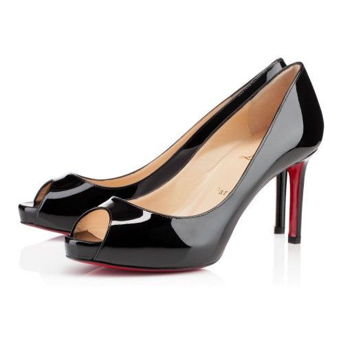 No Matter, Black peep toes with red sole