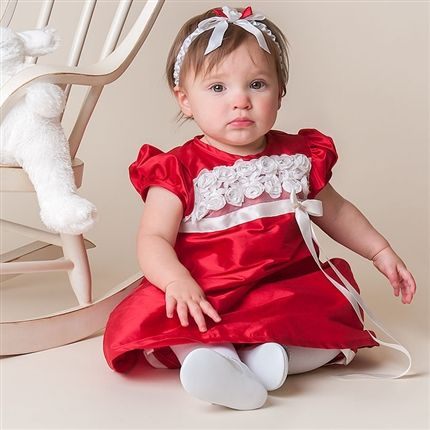 Photos of christmas outfit for newborn baby olive dress and madison dress from baby beau