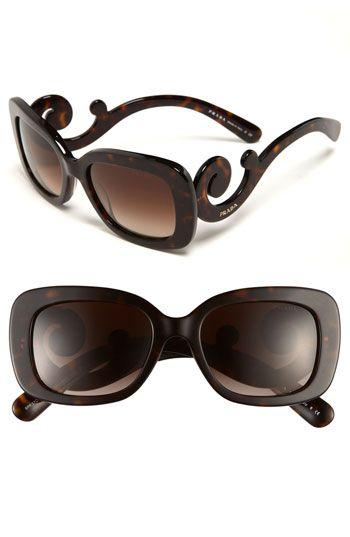 Prada 'Baroque' 54mm Sunglasses Havana/ Brown Gradient One Size