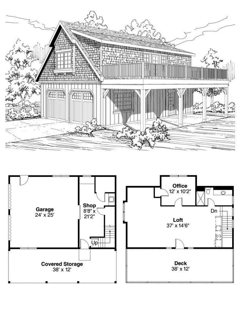 Craftsman Style 2 Car Garage Apartment Plan Number 59475 Garage Apartment Plan Garage Apartment Plans Carriage House Plans