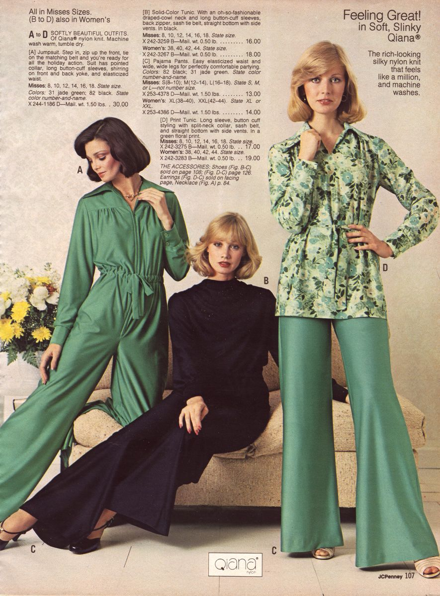 1976 Jcpenney Christmas Catalog 1960s Fashion Women 70s