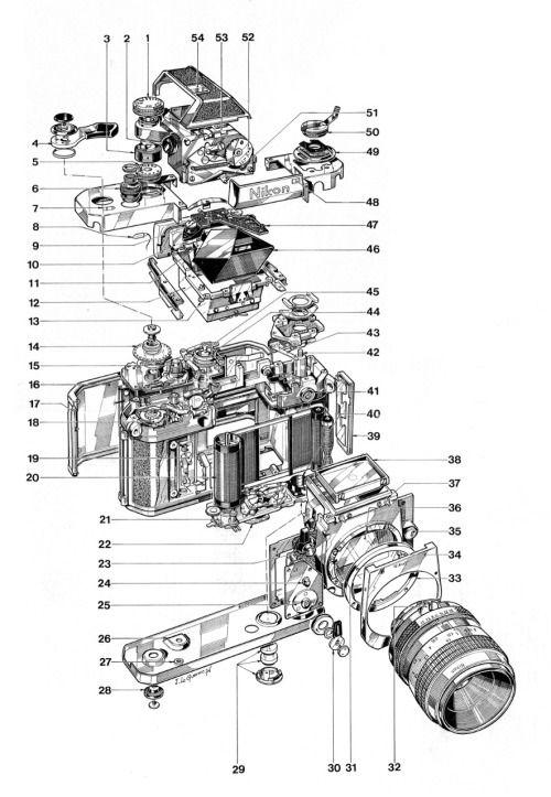nikon f2 photomic parts drawing u2026  photo