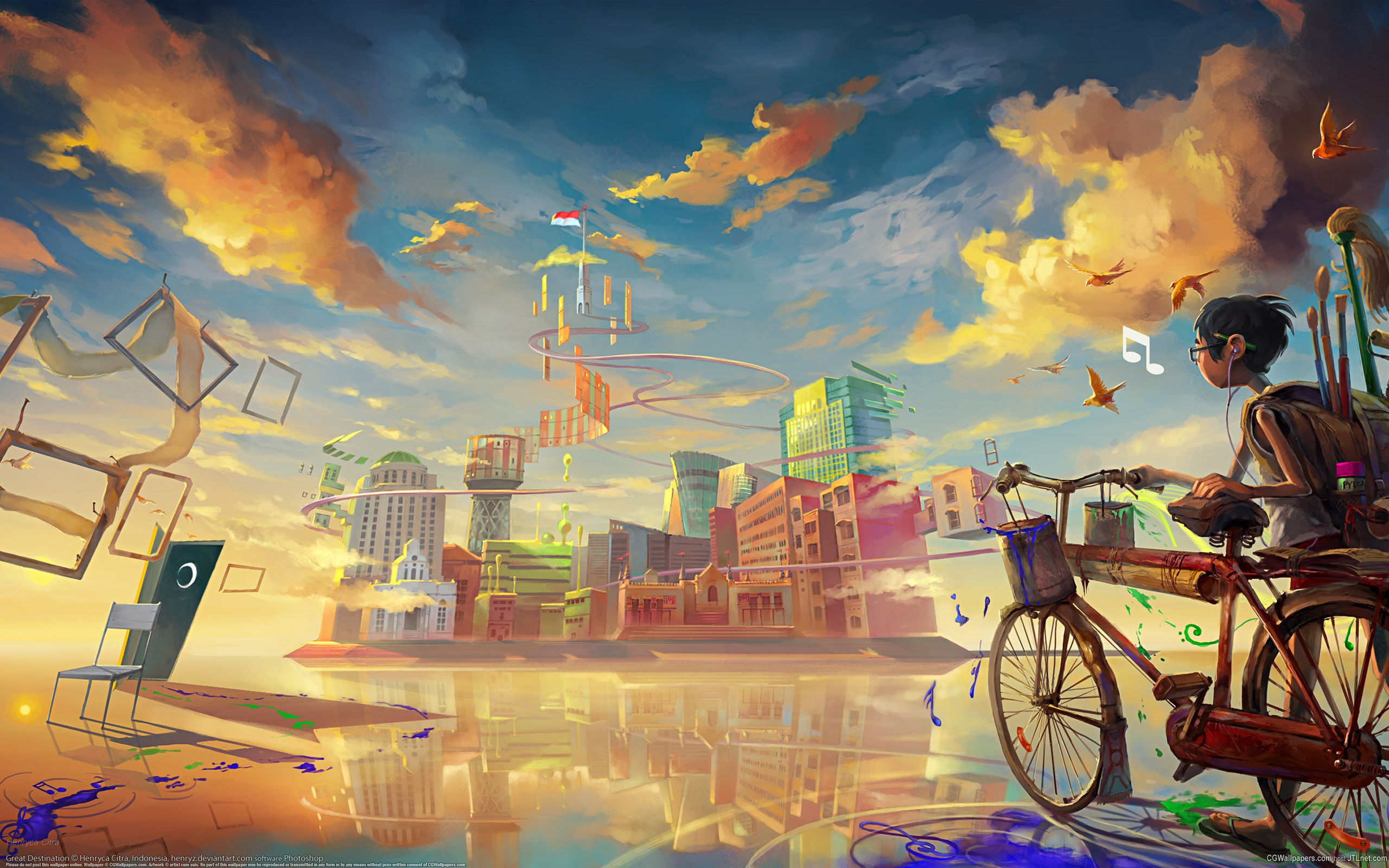 I Love Art Wallpapers Young Boy Outside The City 2560 1600 R Wallpapers Artistic Wallpaper Art Wallpaper Anime Wallpaper
