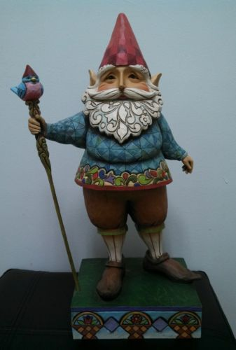 "Gnome In Garden: Mint 19"" Large Indoor Outdoor Jim Shore Garden Gnome"