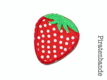 Applikation Aufnäher Erdbeere