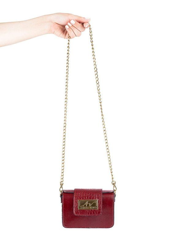 d281afbb3 Bolsa pequena de festa em couro legítimo vermelha - Enluaze Loja Virtual |  Bolsas, mochilas