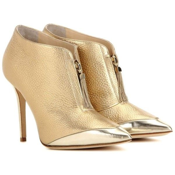 174ce1ea015 Jimmy Choo Tessa 100 Metallic Leather Ankle Boots found on Polyvore  featuring shoes