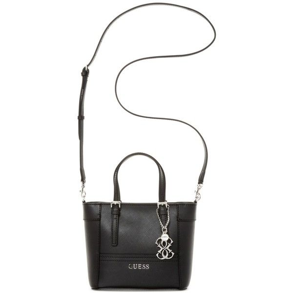 Guess Delaney Petite Tote with Crossbody Strap (€59) ❤ liked on Polyvore  featuring bags f1241a8d629fc