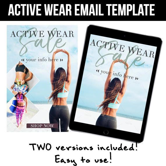 Professional Active Wear email template Two versions included - professional email template
