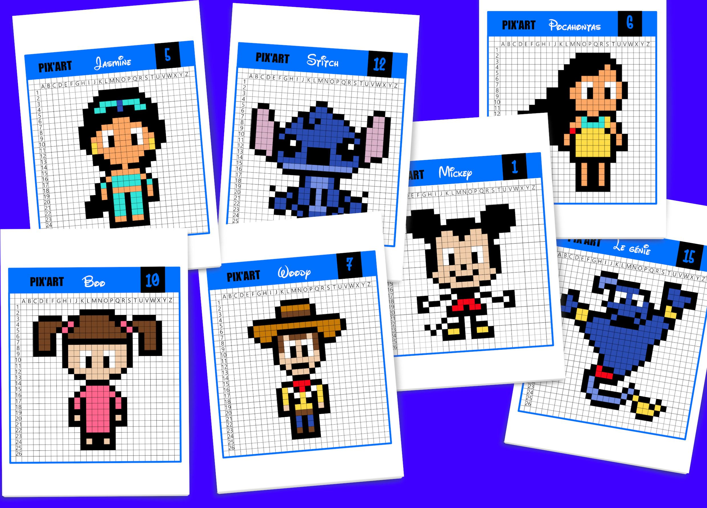 Pixel Art Des Centaines De Modeles A Imprimer Gratuitement Pixel Art Art Disney Pixel Art A Imprimer