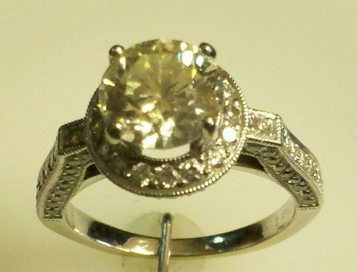 Diamond and Platinum Engagement Ring!