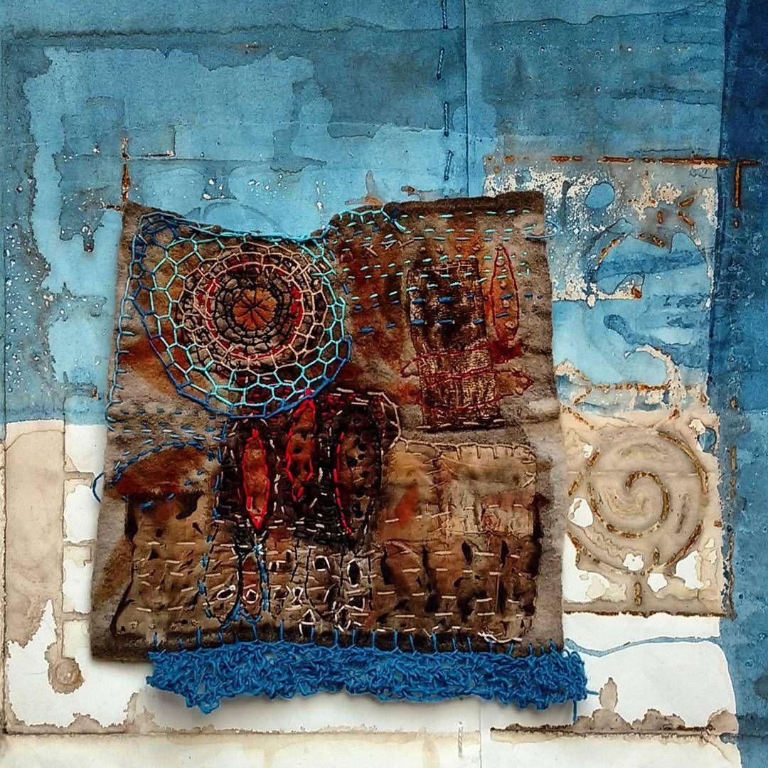 Elizabeth bunsen textile art fabric painting fiber art