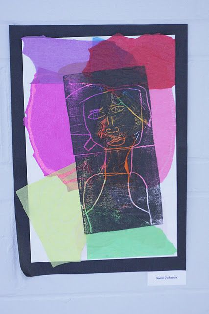 Printmaking Tissue Paper Paul Klee Inspire Portraits Or Could Tie In With My Many Colored Days Book By Dr Seuss