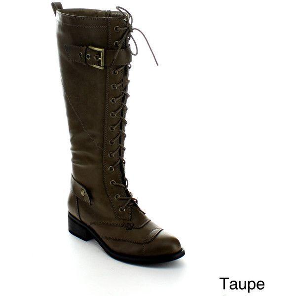 3a191c4b6a2 Jacobies Moya-1 Women's Lace-up Knee-high Combat Boots ($53 ...