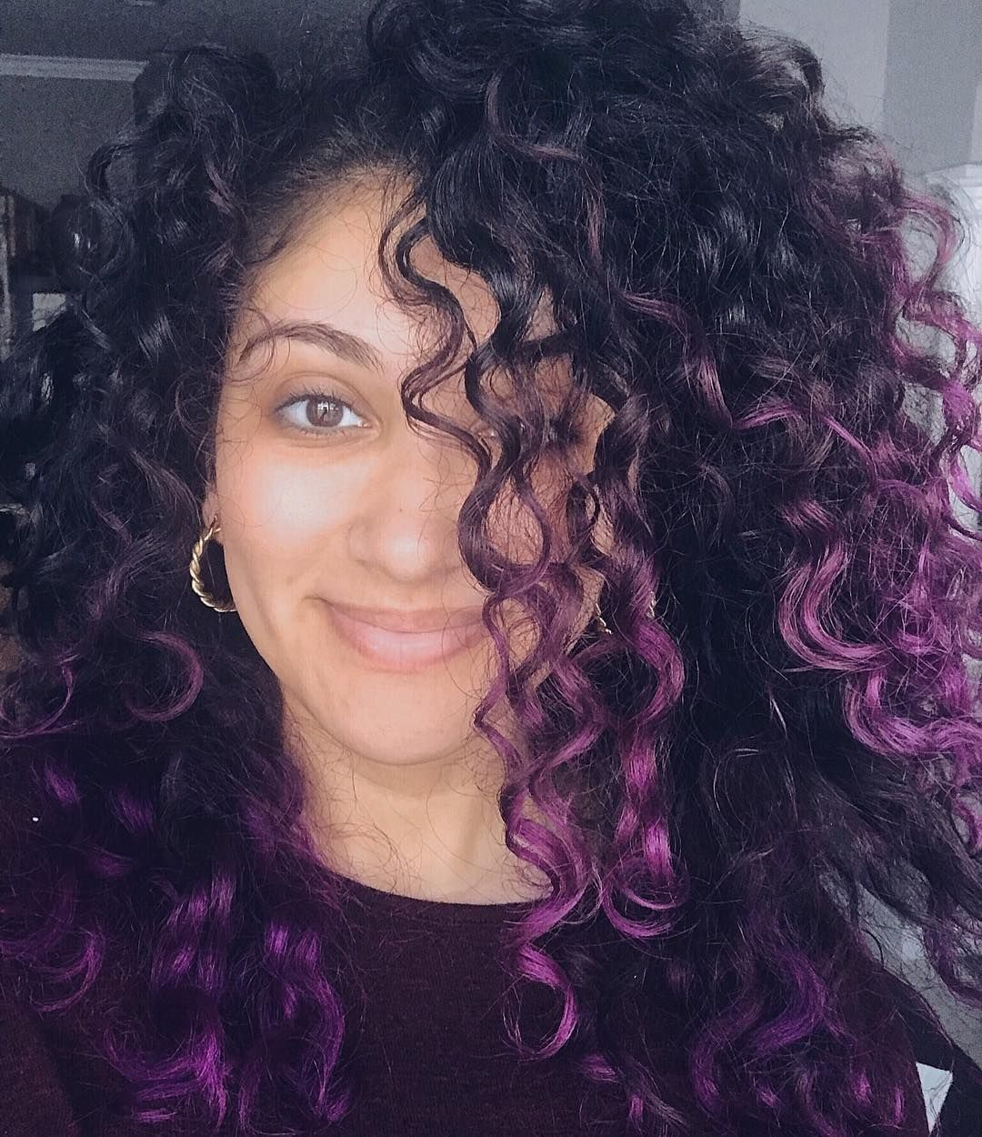 Pin By Maddie On Hair In 2020 Colored Curly Hair Highlights Curly Hair Colored Hair Tips