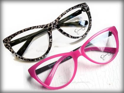 7541687f2cf Large leopard or pink cat eye eyeglass frames by Jessica Simpson ...