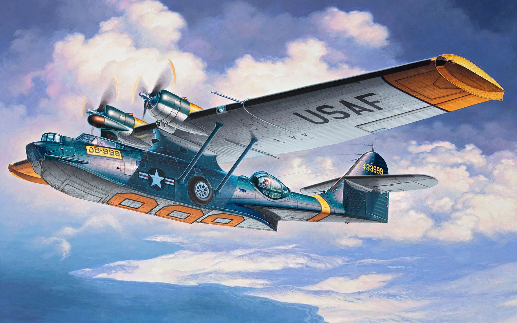 Consolidated PBY5A Catalina by Andrzej Deredos (With