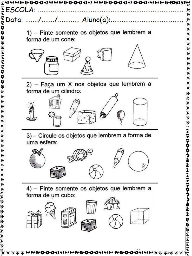 Matema Tica Polagonos 5 Atividades De Geometria Atividades De