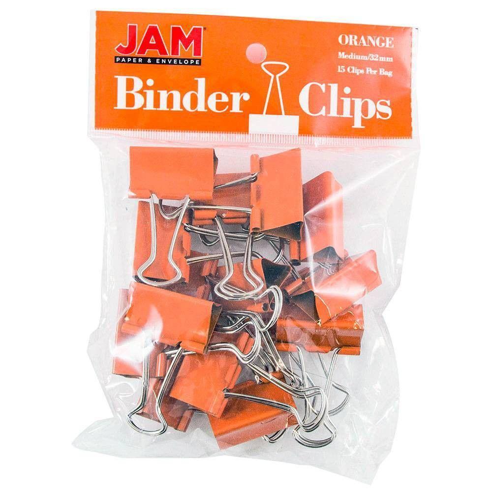 "JAM Paper 1 1/4"" 15pk Colorful Binder Clips"