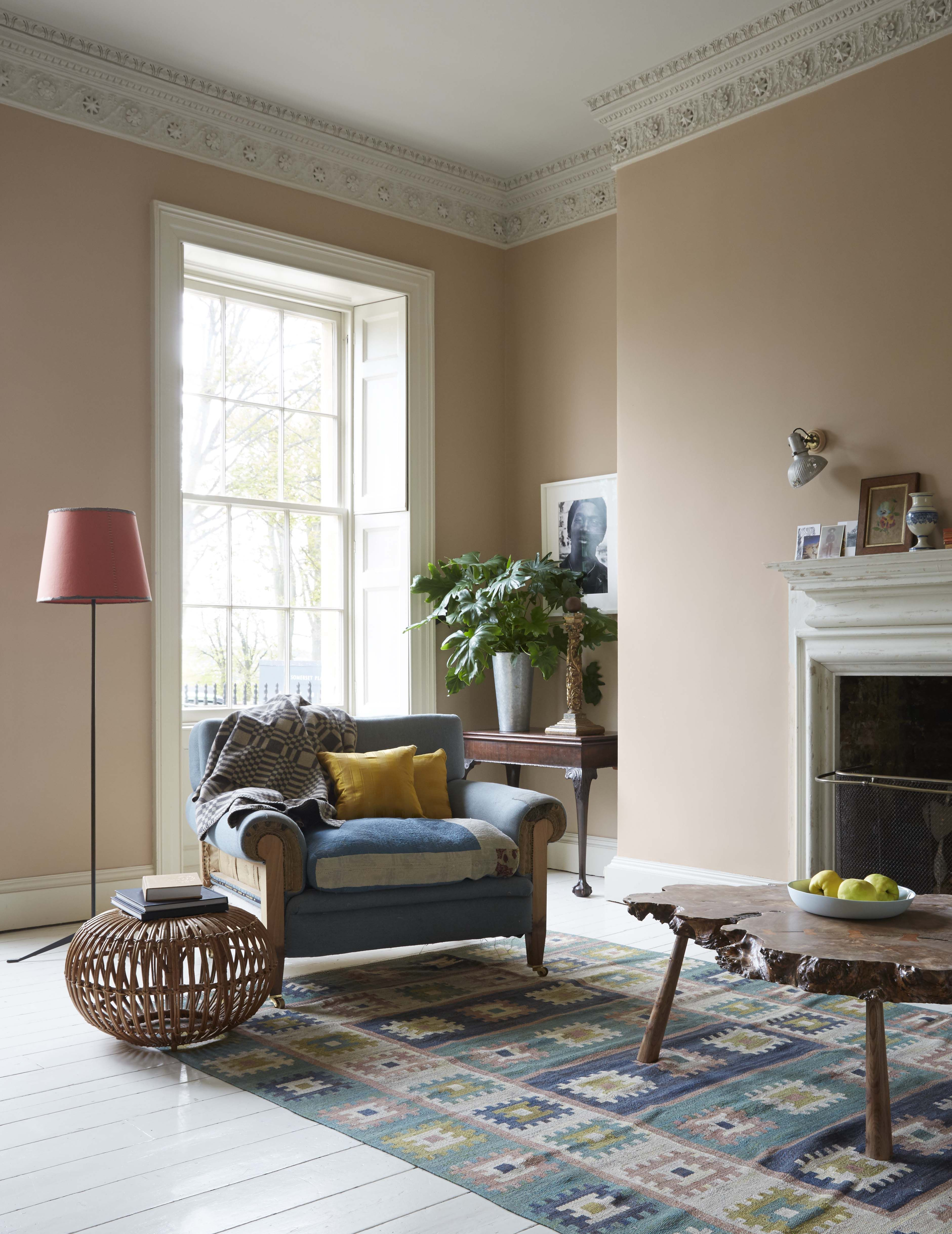 Pin On Sitting Room Inspiration #peach #walls #living #room