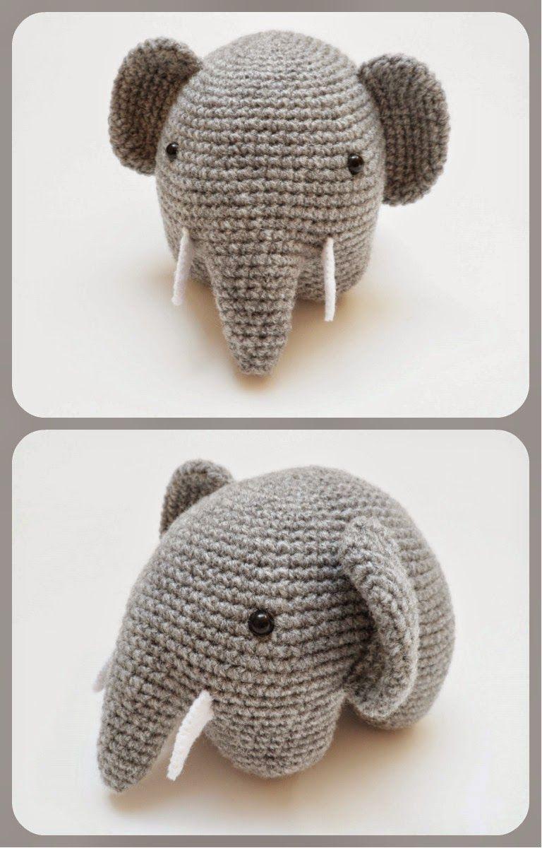 Patrón Amigurumi Elefante en crochet | patrones | Pinterest ...