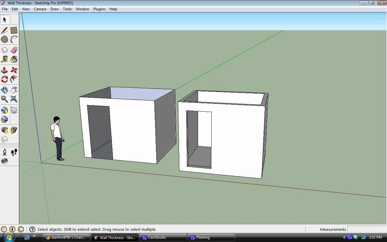 SketchUp - Creating Wall Thickness | Wall, Stanford ...
