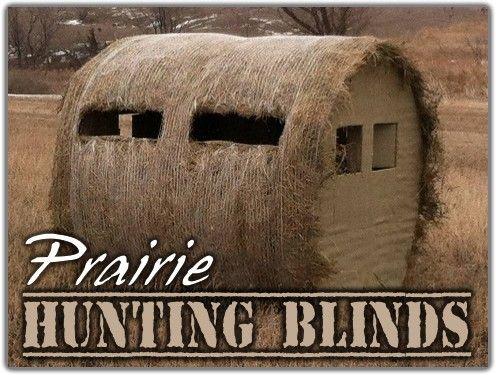 Round Hay Bale Blind Barn Deer Hunting Blinds Hunting