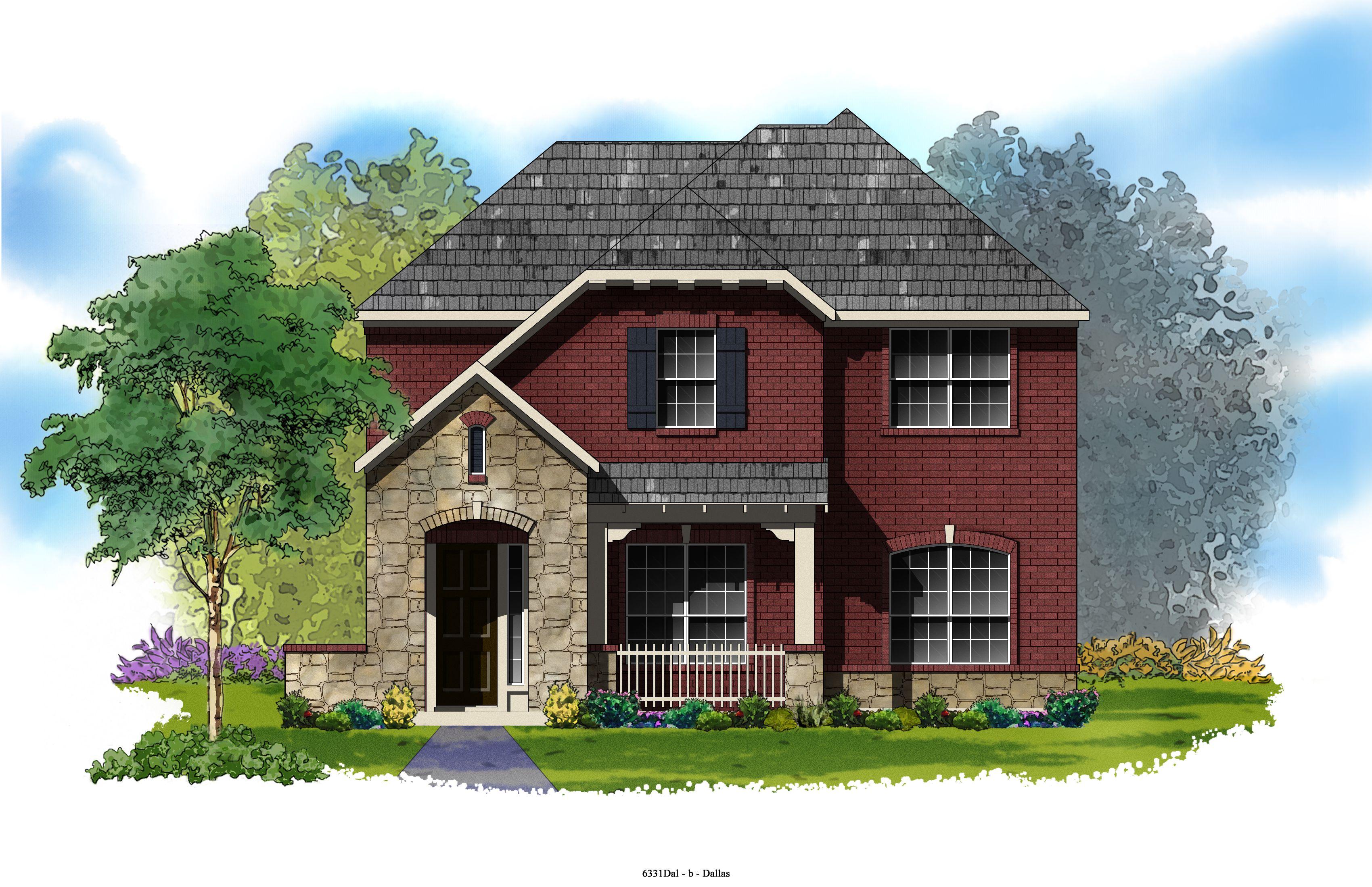David Weekley Homes Kaylor Elevation B 2 727 Sq Ft