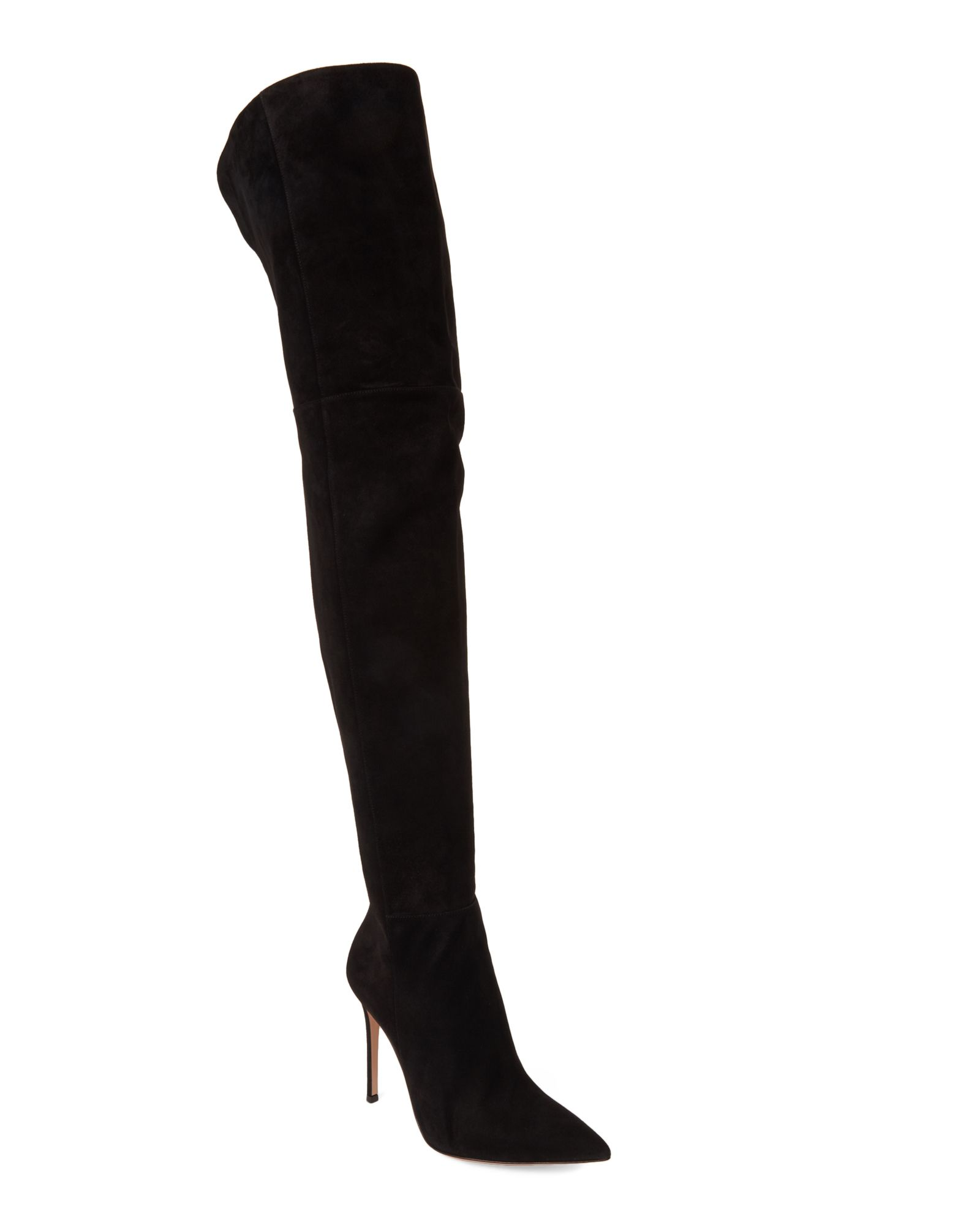 5743f4853f6 Black Lea Cuissard Suede Thigh High Boots | *Apparel & Accessories ...
