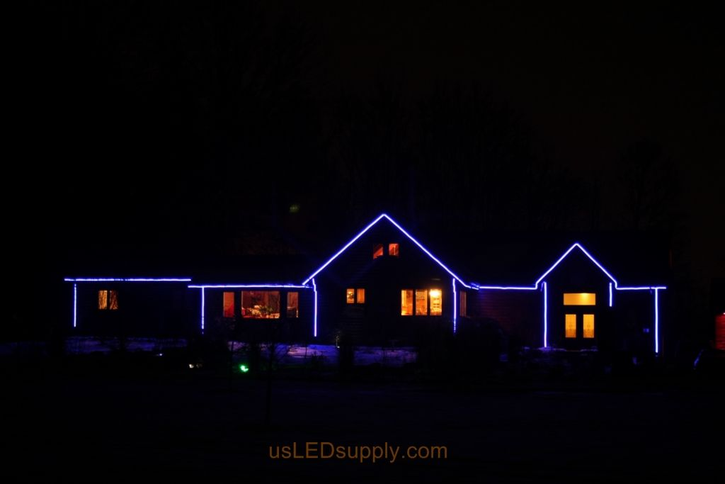 Color Changing Rgb Led Strips Outline A House For All Year Color Led Color Changing Lights Waterproof Led Lights Led Strip Lighting