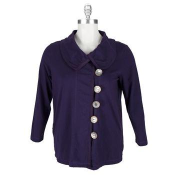 30a20b183a17b Neon Buddha Plus Size Westport Jacket  VonMaur  NeonBuddha  Purple  Buttons