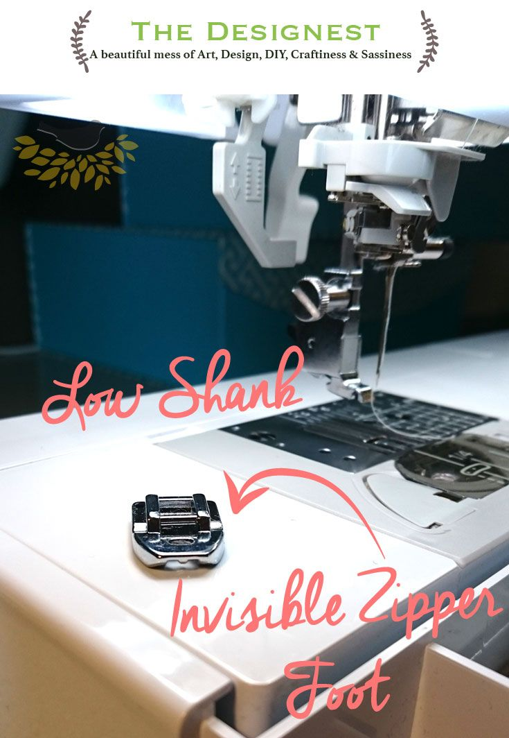 Invisible Zipper foot that makes sewing the invisible zipper in so much easier