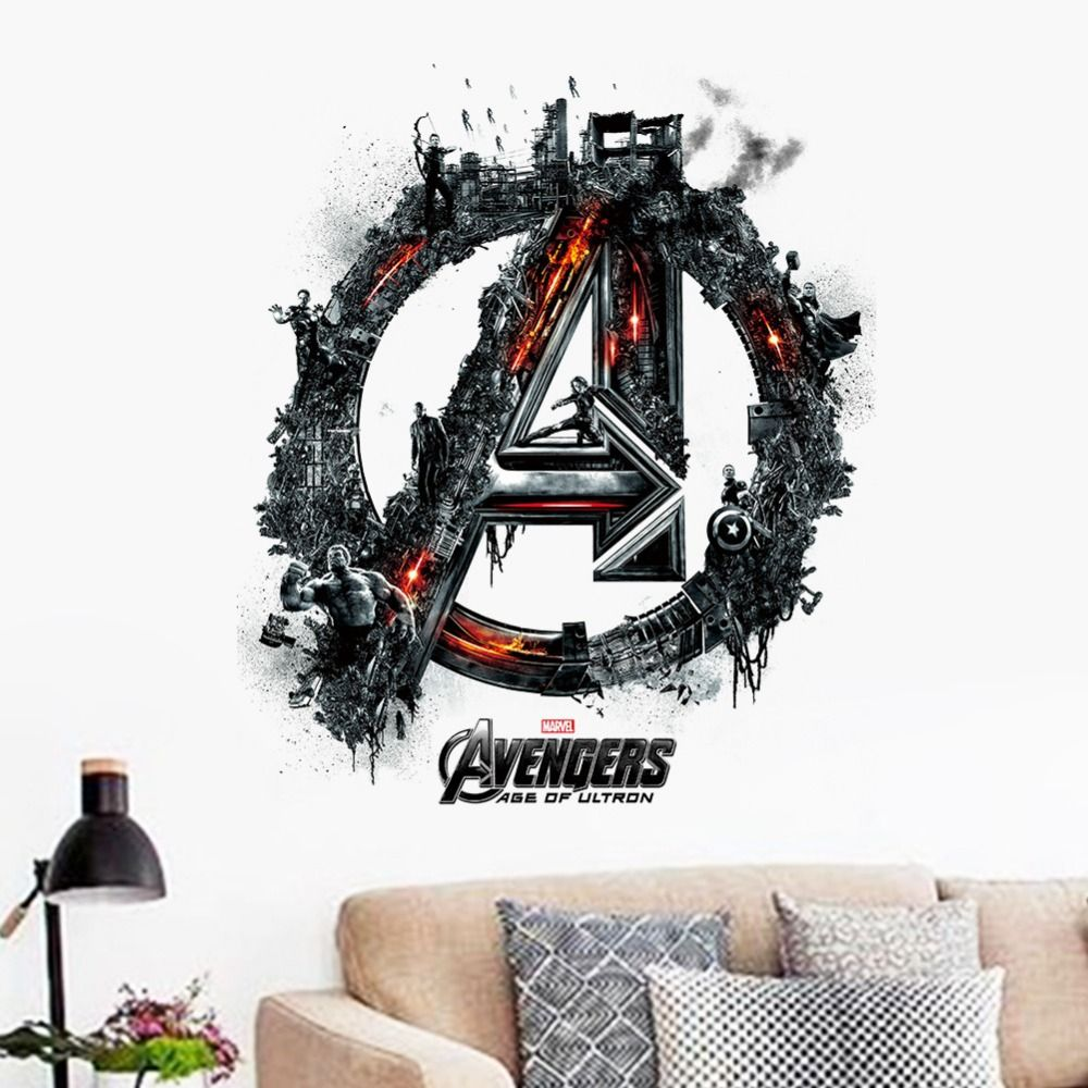Marvel Avengers Age Of Ultron Wall Stickers Decals Boys Cartoon - Vinyl wall decals avengers