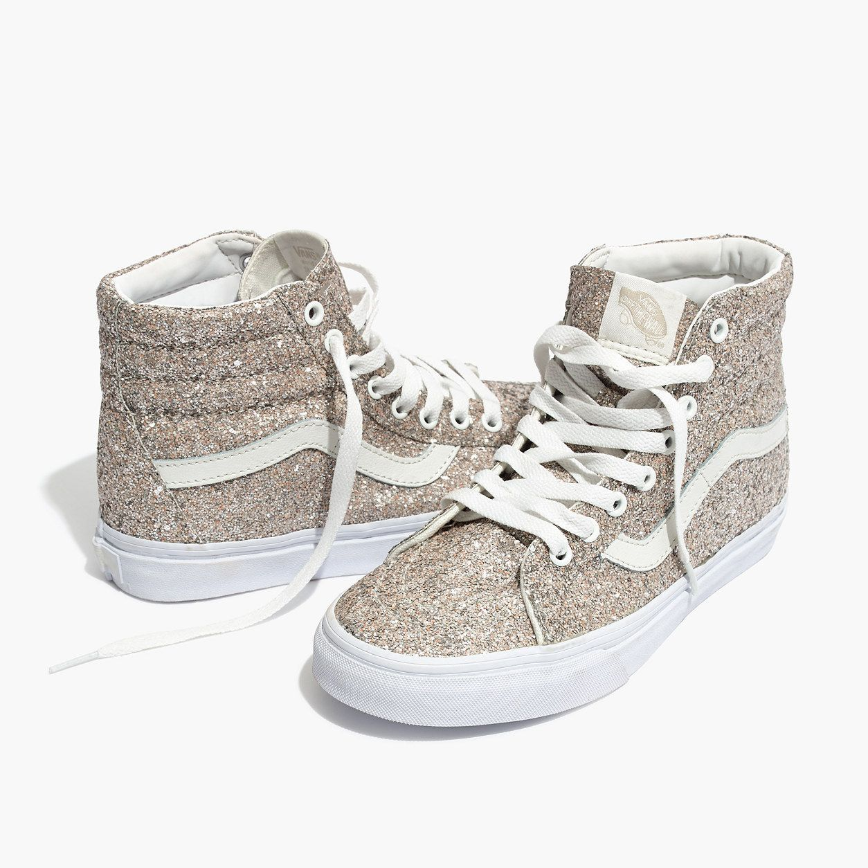 ff7131da61 Madewell Womens Vans Unisex Sk8-Hi High-Top Sneakers In Glitter ...