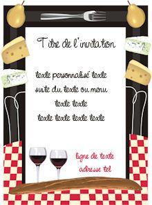 Fabulous cartes invitation gratuites a personnaliser et imprimer | cartes  ZI14