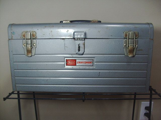Vintage+Sears+Craftsman+Metal+Aged+Tool+Box+by+SirEdmondsVintage ...