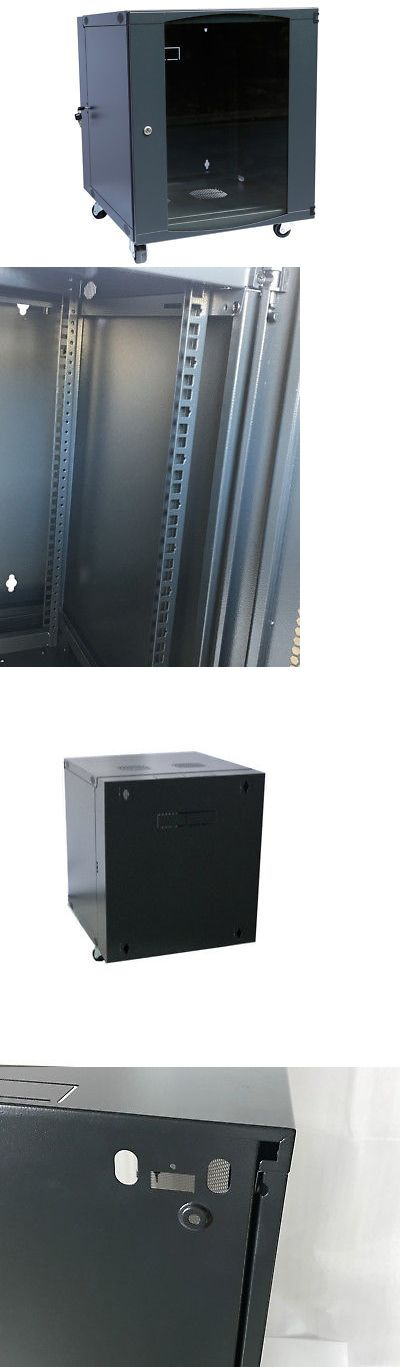 Rackmount Cabinets And Frames 51199 Rising 12u Wall Mount Network Server Cabinet Rack Enclosure Ventilation Doo Server Cabinet Glass Door Lock Wall Mount Rack