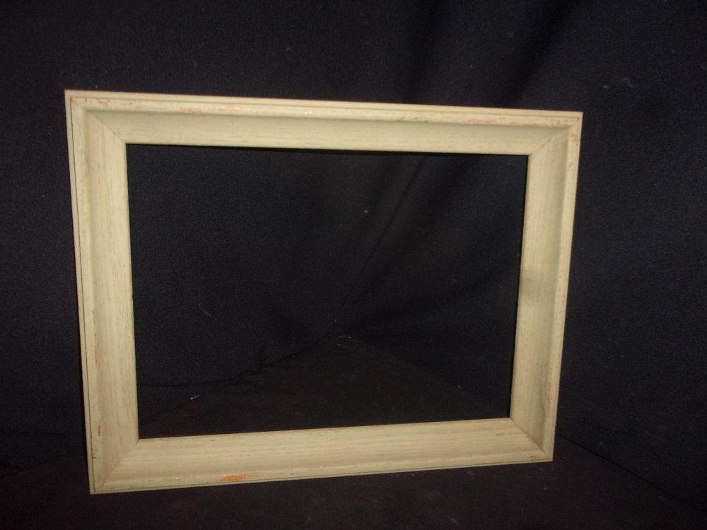 Vintage Shabby Chic Green Wooden Picture Frame 18x14 Inside 15x11