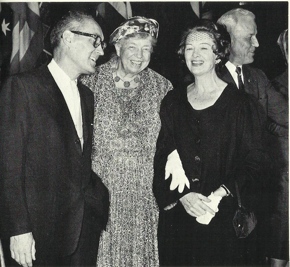 Eleanor Roosevelt and Myrna Loy (with Francis Wilcox) scanned from Being and Becoming.