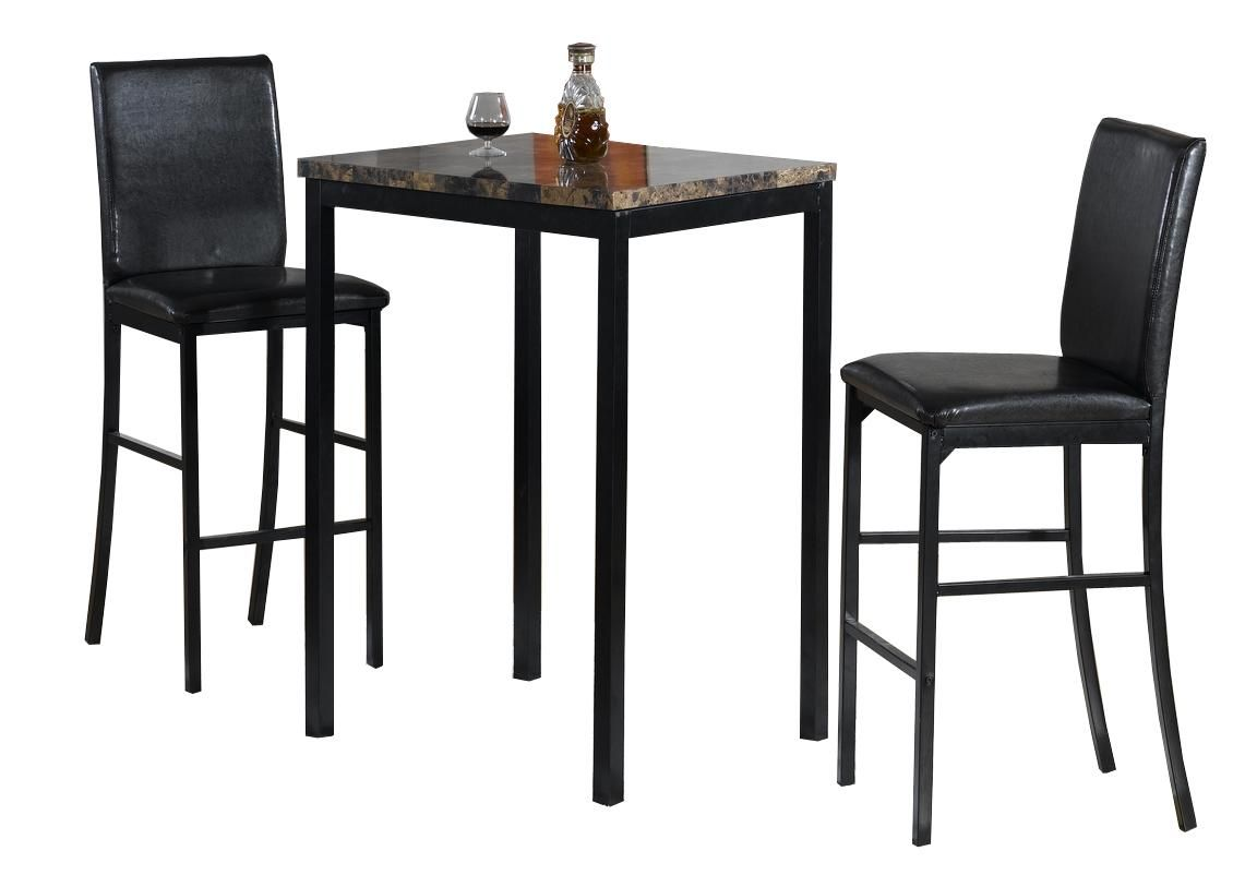 Falmouth Faux 3 Piece Pub Set   Dining Table Sets At Hayneedle