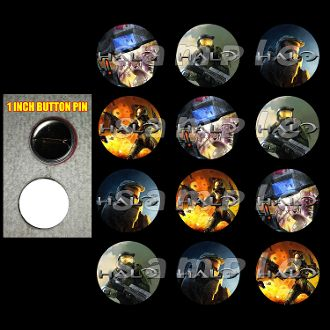 """HALO 1"""" BUTTONS"""