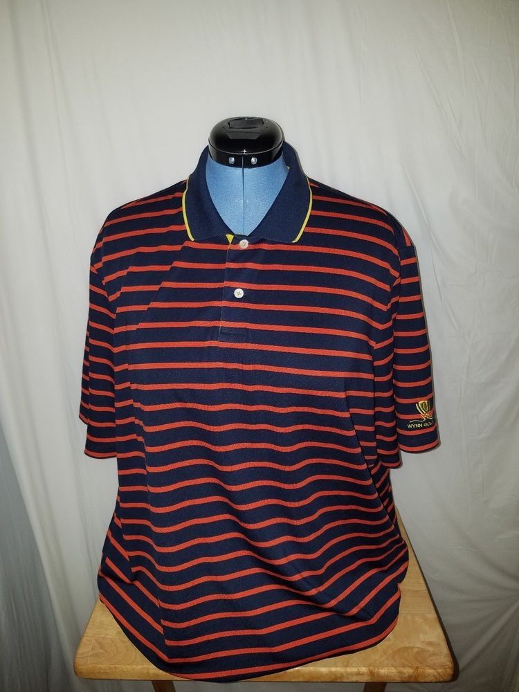 Mens Ralph Lauren Rlx Wynn Las Vegas Golf Club Multi Color Striped Polo Xl Ralphlaurenrlx Polorugby