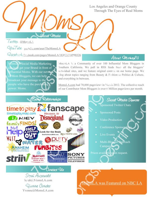 Blogger Media Kits Media kit and Blogging - sample sell sheet