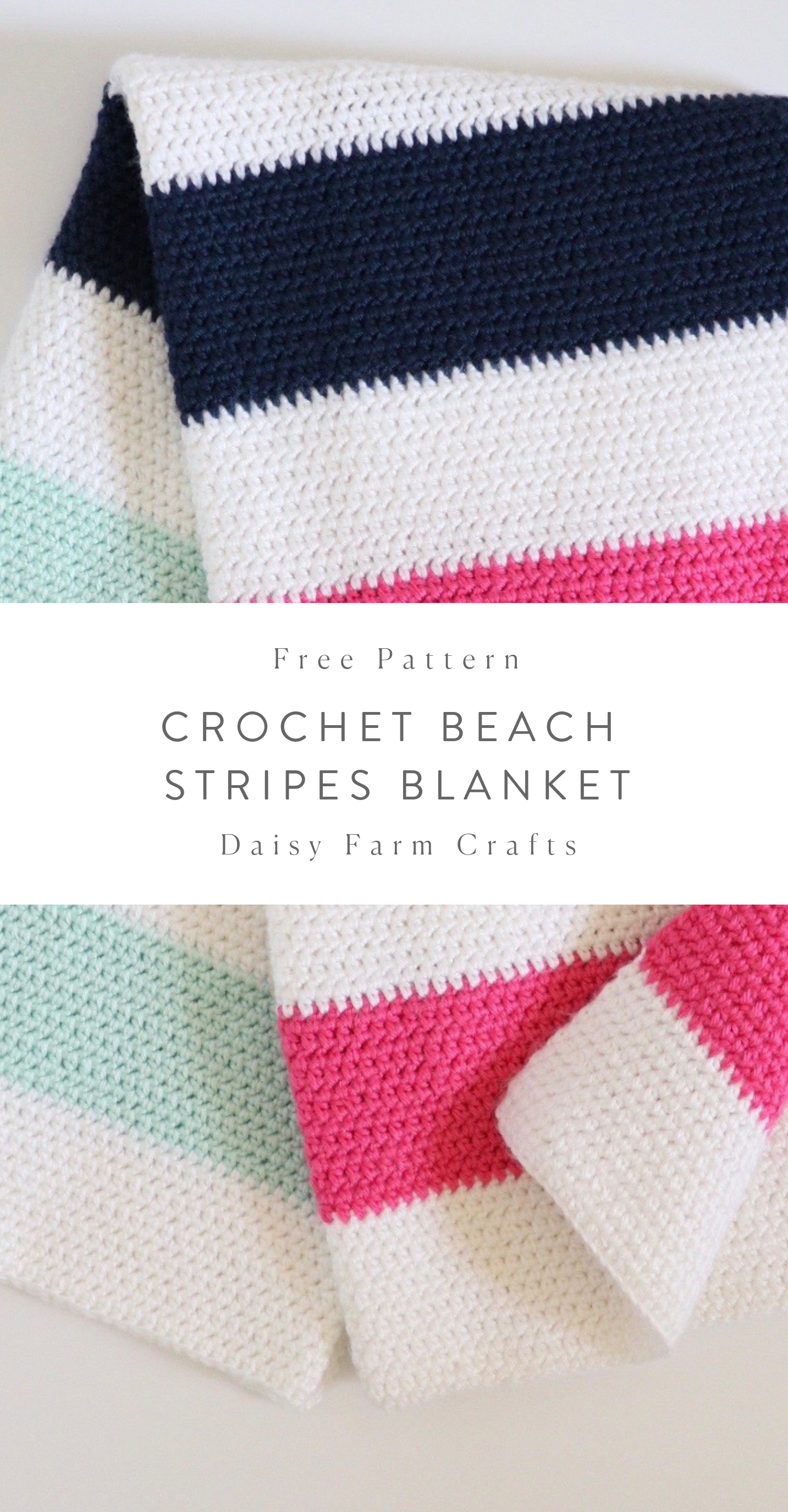 Photo of Free Crochet Blanket Pattern – Beach Stripes Baby Blanket