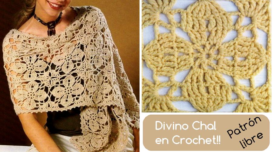 chal-en-crochet   Chales tejidos a crochet   Pinterest   Chal, Tipos ...