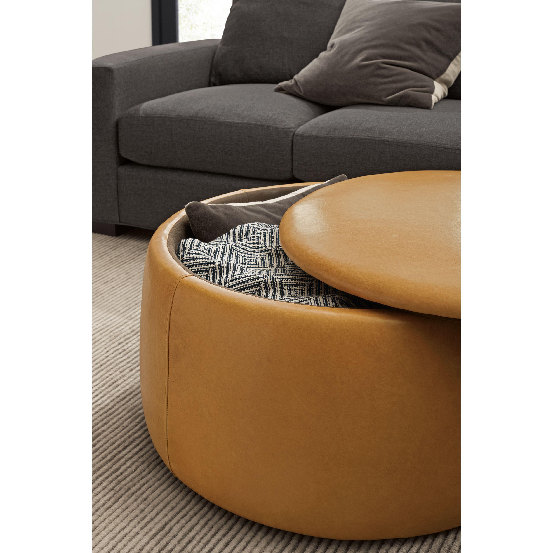 dodd leather storage ottomans modern