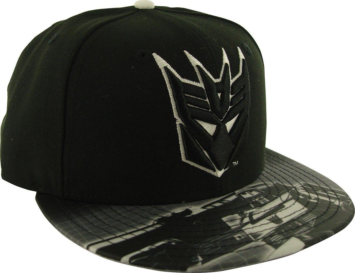 70130f3a879 Transformers Decepticon Glow Logo 59FIFTY Hat
