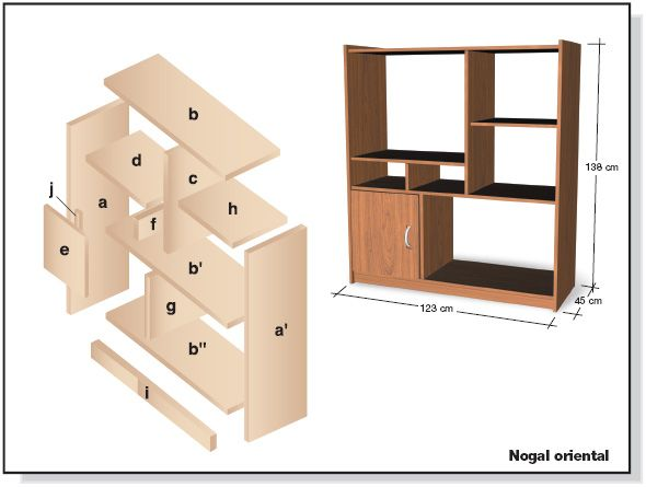 Muebles de melamina y madera plano de mueble para tv for Plano alacena melamina