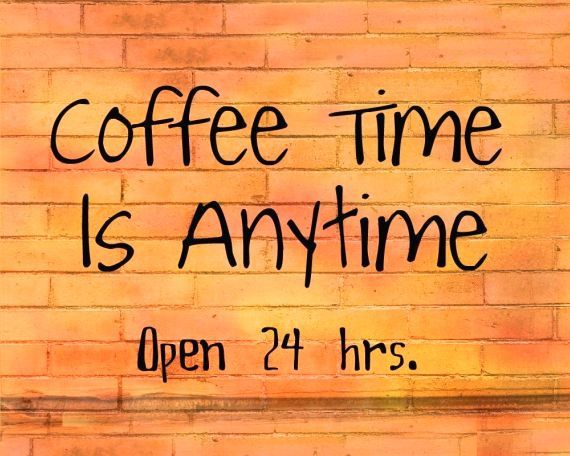 Anytime...especially during the school year.  After all, the world runs on caffiene.