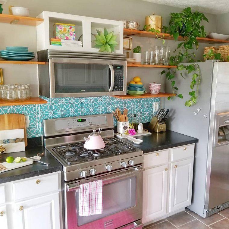 Top Des Idees Pour Obtenir Boho Style De Cuisine Bohemian Kitchen Chic Kitchen Chic Kitchen Decor